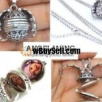 NEW ARRIVAL CUSTOMIZED NEW ANGEL WING EXPANDING PHOTO LOCKET FOR SALE