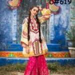 Zara Ahmed  Eid Collection  Available on Fine Quality Lawn with Embroidered Shafoon dopatta 3pc Suit for Sale
