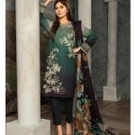 Lawn With Chiffon Printed Dupatta for Sale