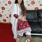 Ajrak Lawn Stuff 3pc for Sale