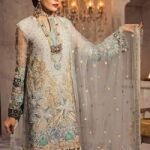 Anaya Bridal Net Embroidery Suit Net Embroidery Duppata for Sale