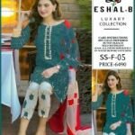 Eshal.B Available In Lawn Fabrics 2pc for Sale