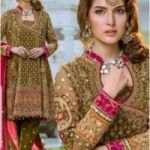 Ayesha Imran Bridal Chiffon Embroidery Suit Chiffon Embroidery Duppata for Sale