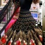 Nida Yasir Bridal Net Embroidery Maxi with Embroidery net Dupatta  for Sale