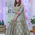 HEAVY BRIDAL LEHANGA DRESS   EMBROIDERED FRONT BACK BODY MESOORI FOR SALE