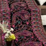 Persian Art On Velvet Complete Heavy Aarhi Work With 7 Different Colours of Dori Work for Sale