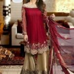 Noomi Ansari EMBROIDERED luxury party wear  chiffon collection for Sale