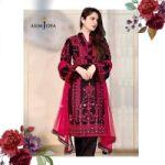 Asim Jofa Cotton Full Heavy Handwork & Mirrorwork Embroidered Front for Sale