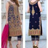 BRAND AISHA IMRAN BLACK BLUE BRIDLE DRESS FOR SALE