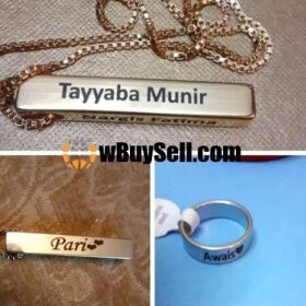 BUY 1 BAR NECKLACE & GET 1 CUSTOMIZED SILVER RING FREE FOR SALE