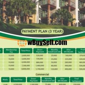 PLOTS FOR SALE ON INSTALLMENT AT CHINAR RESIDENCIA LEHTRAR ROAD ISLAMABAD