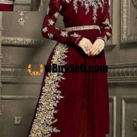 INDIAN CHIFFON EMBROIDERY MAXI SUIT CHIFFON EMBROIDERY DUPPATA FOR SALE