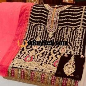 BRAND AISHA IMRAN FABRIC (SHIRT) CHIFFON (TROUSER) MALAI FOR SALE