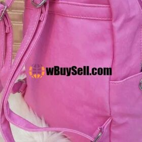 TEXTURED LEATHER EMBROIDERY BACK PACK FOR SALE