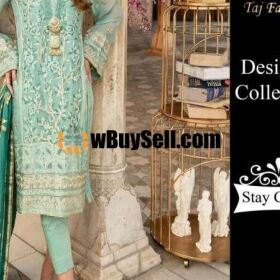 HEAVY EMBROIDERED COTTON DRESS WITH MEHSOORI EMBROIDERED DUPATTA FOR SALE