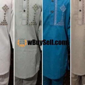 FABRIC SOFT COTTON EMBROIDERY SUIT FOR SALE