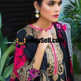 SANA SAFINA LAWN EMBROIDERY SUIT CHIFFON PRINTED DUPPATA