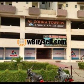 BRAND NEW FLAT SALE AT AL ZOHRA TOWERS GULSHAN E MAYMAR KARACHI