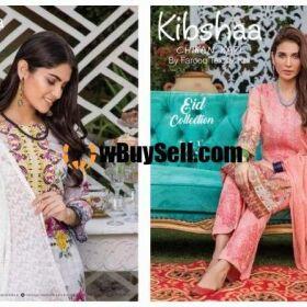 FOR SALE LADIES DRESS KIBSHAA CHIKAN KARI BY MOOSA JEE LAWN QUALITY FOR SALE