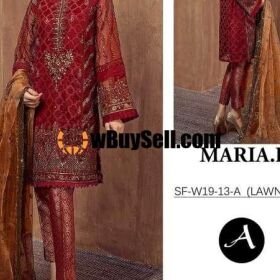 MARIA B LAWN MOST DIMANDED DSIGN EMBROIDERY SUIT