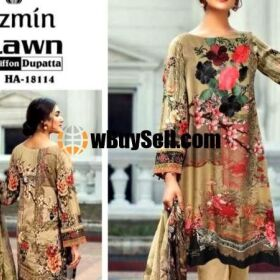 JAZMINE LAWN EMBROIDERY SUIT CHIFFON PRINTED DUPPATA