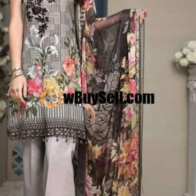 MOST HIT DESIGN ANAYA LAWN EMBROIDERY SUIT CHIFFON PRINTED DUPPATA
