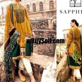 SAPPHIRE VOL'20 AVAILABLE IN LAWN FABRICS 3PC