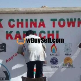 PLOTS FOR SALE AT PAK CHINA TOWN KARACHI