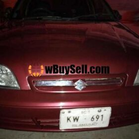 SUZUKI CULTUS CAR FOR SALE