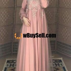 FOR SALE DESIGNER ABAYA LIGHT PINK