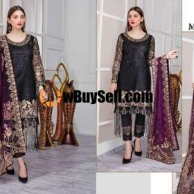BRAND MINHAL LATEST COLLECTION 2020 (3 PCS UNSTITCHED ) EMBROIDERED CHIFFON