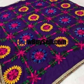 FOR SALE CHIFFON FULL JAAL EMBROIDERY WORK HANDMADE EMBROIDERY 1500 ONLY