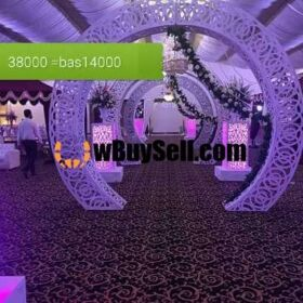 FOR SALE AND MANUFACTURING MARRIAGE HALL DECORATION STAGE PEACES