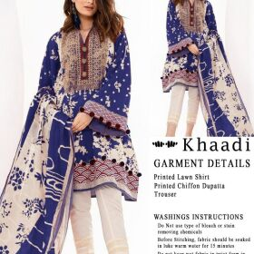 Khaadi Neckline Embroidered  Dupatta Chiffon Printed for Sale