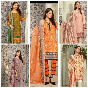 Mahee's Embroided lawn with lawn Chikankari Embroided Duppatta for Sale
