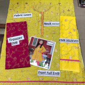 Kids Summer Collection 2020 Fabric Lawn 2pc Suit Shirt & Trouser for Sale