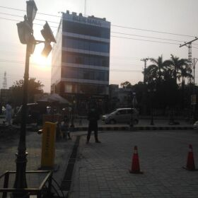 PLAZA FOR SALE CORNER BLUE MALL MM ALAM ROAD LAHORE