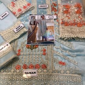 Sobia Nazir NET Embroidery Suit  with Net Embroidery  Dupatta Now Available Master Replica for Sale