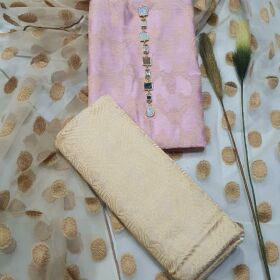 Organza Shirt , Beautiful Net Dupatta along with Cotton Silk Trouser for SALE