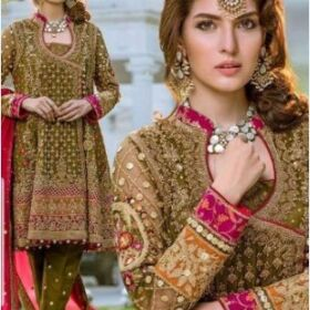 Ayesha Imran Bridal Chiffon Embroidery Suit Chiffon Embroidery Duppata for Sale