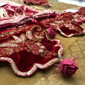 Full Emb Organza Shirt with Emb Neck and Emb Cutwork Suit for SALE