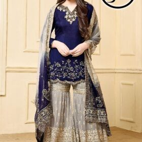 Indian Chiffon Embroidery Suit Net  Embroidery Duppata for Sale