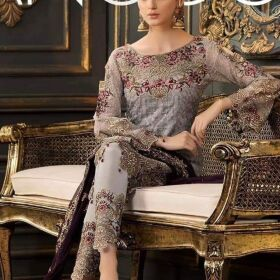 RAMSHA CHIFFON EMBROIDERY SUIT FOR SALE