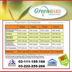 Green Oaks Farms 2 & 4 kanal farm house for sale on installments
