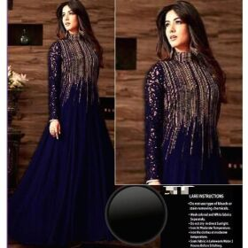 Indian Maxi Heavy Sequins Embroidered Chiffon Front Body for Sale