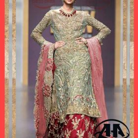 Mina hasan Net bridal embroidery suit Net embroidery duppata now available master replica for sale
